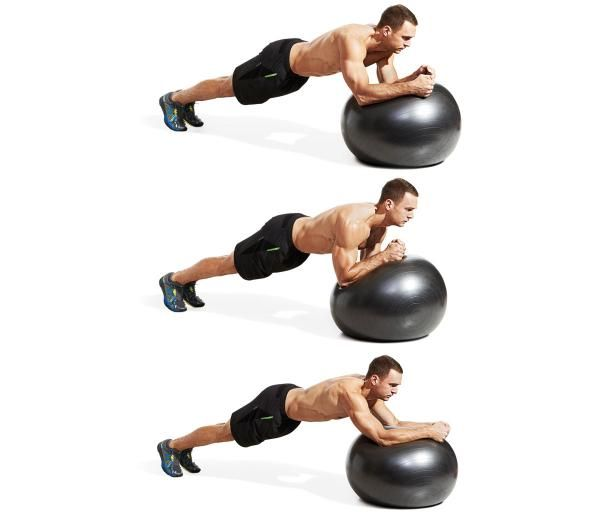 9 Swiss Ball Plank Circle 21 Day Shred Exercise Gym