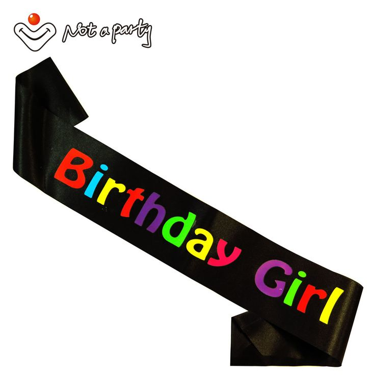 Black Birthday girl sash 50% off for 3pcs event party decoration happy brithday sashes decorative crafts fun gift ribbon #Affiliate