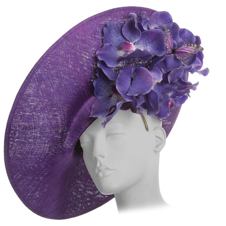 """Philip Treacy Sinamay Side Slice Hat """"Orchid Collection"""" Circa 2012 