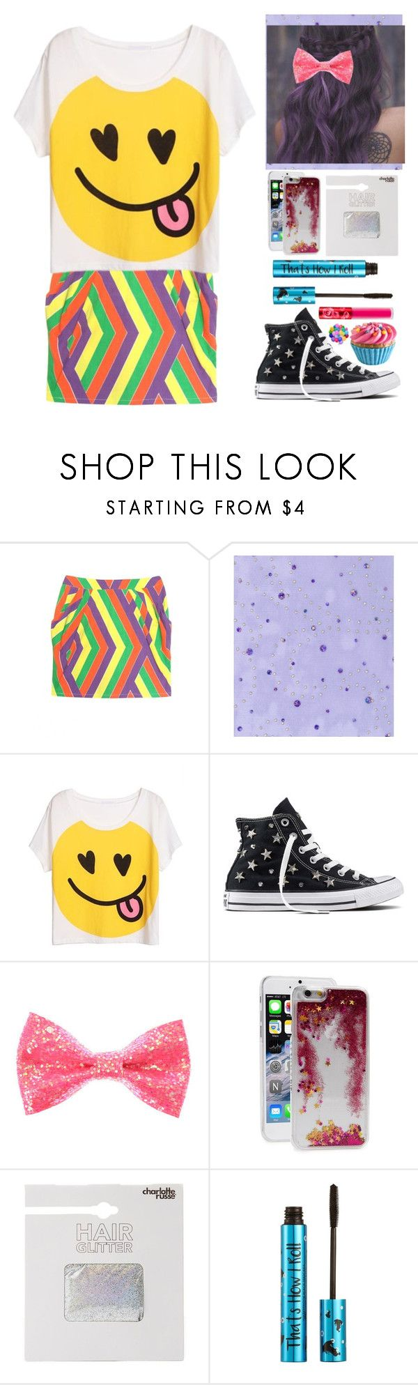 """The heart of the party"" by aby-ocampo ❤ liked on Polyvore featuring ReLuxe, Converse, Skinnydip, Charlotte Russe, Barry M, Lime Crime and Dylan's Candy Bar"