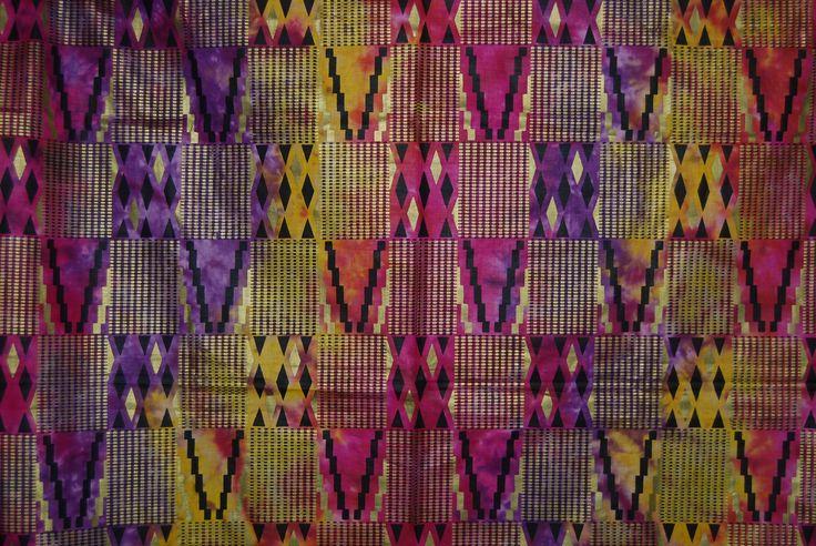 Vintage Boho Hippie African Rainbow tye dye hombre style Wax Print by vintageinspiration on Etsy