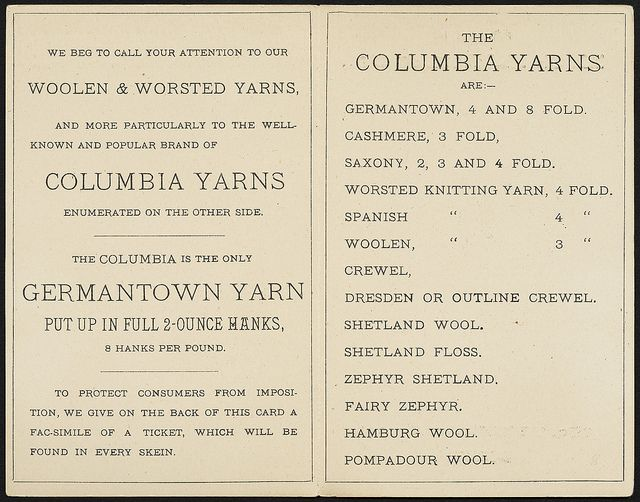 Columbia Yarns [inside]