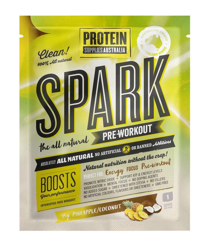 Vegan Friendly Pre Workout | PROTEIN SUPPLIES AUSTRALIA – Spark (All Natural Pre-Workout) Pine Coconut