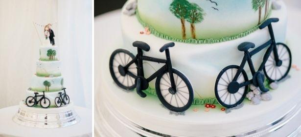 Wedding cake bikes, High House Farm Wedding Photography, Vanessa Adams, Shooting for Katie Bryam Photography