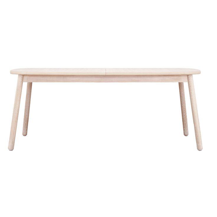 5290,- med innleggsplate på 50 cm   Native spisebord 180+50, hvitlasert eik – Department – Kjøp møbler online på Room21.no