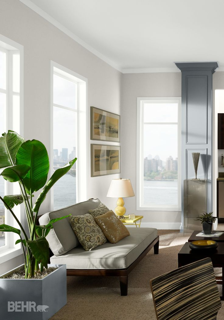 Express Your Love For Modern Design With This Fresh Home Decor Look  Featuring Light Gray BEHR