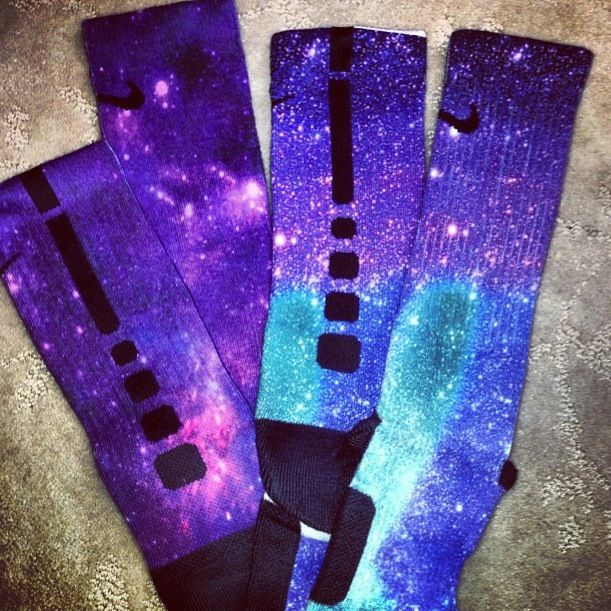 Nike Crew Galaxy Basketball Socks♡