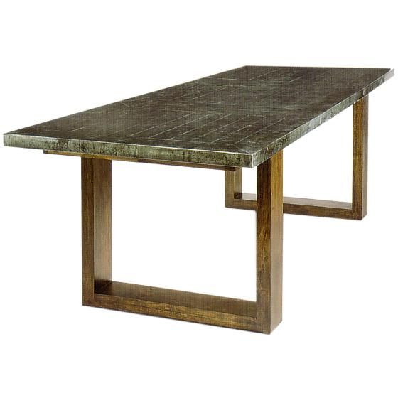 Regina andrew design zinc dining table w parquet top