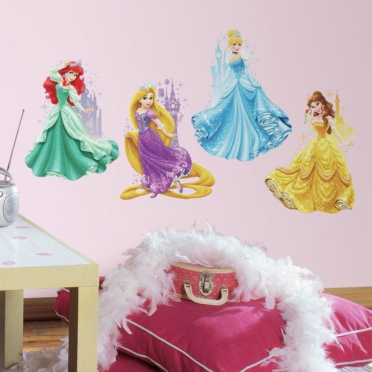 Internet Only Disney Princesses and Castles Wall Decal