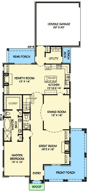 25 best ideas about narrow lot house plans on pinterest for Perfect for corner lot house plans