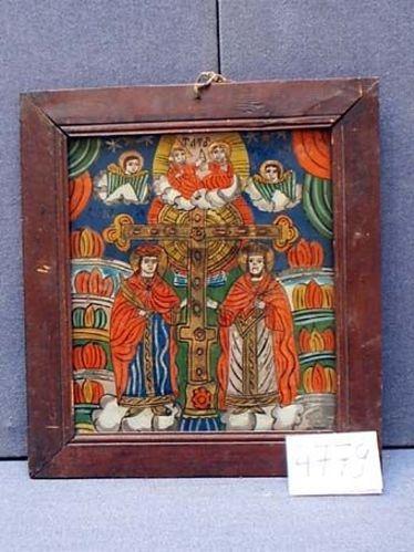 IcoanăSfânţii Împăraţi Constantin şi Elena cu Sfântul Vasile şi Sfântul Nicolae…