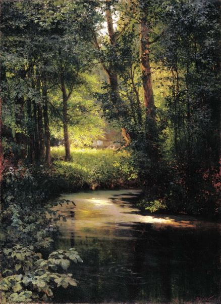 Miasoyedov Gregory - Forest Stream. Spring. 200 Russian painters • download painting • Gallerix.ru
