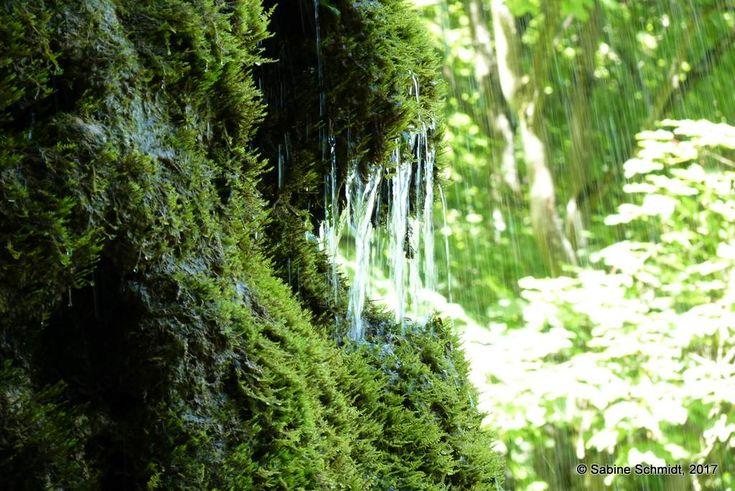 Gütersteiner Wasserfall. Erwandert auf dem Wasserfallsteig in Bad Urach, Schwäbische Alb