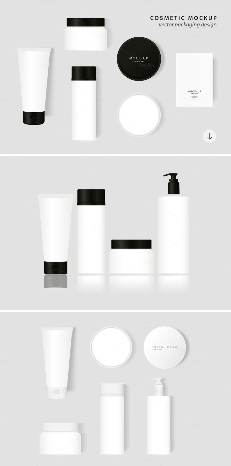 Cosmetic Packaging Vector MockUp - Product Mockups - 1