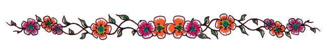 Orange Flower Armband Tattoo