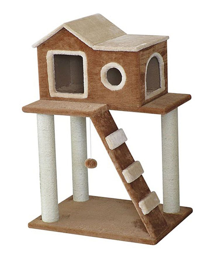 Take a look at this Tan Cat Tree House today!