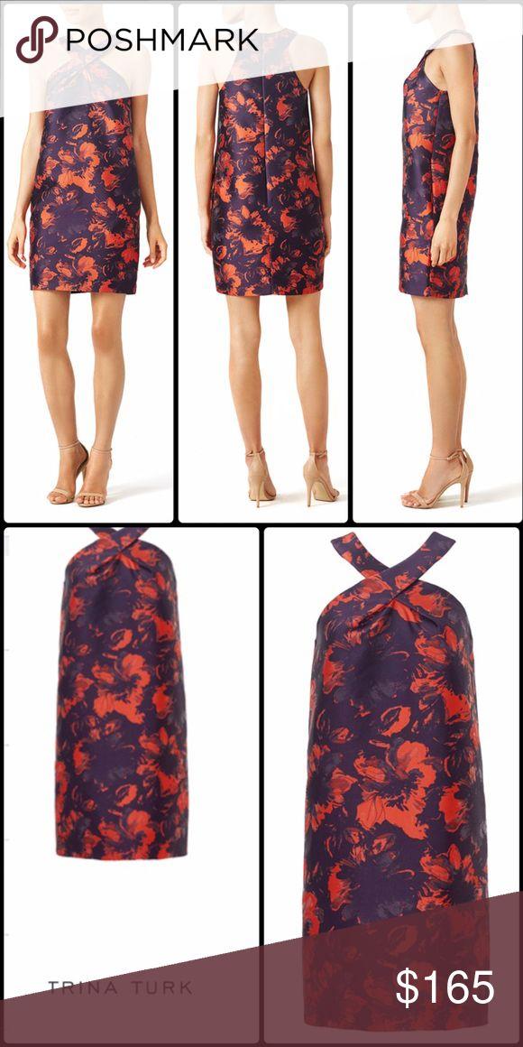 Trina Turk Dress Trina Turk Orange and Purple Print Dress Trina Turk Dresses