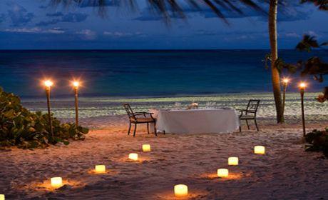 diner romantique au bord de plage