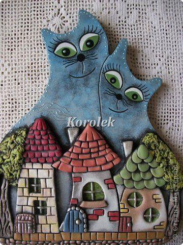 Коты- нерозлучники из гипса . фото 4