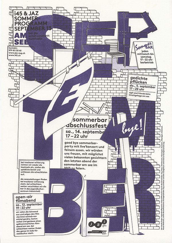 RAPHAEL SCHOEN FOR Z YOUTH CLUB, ZUG, SWITZERLAND.  'SEPTEMBER'