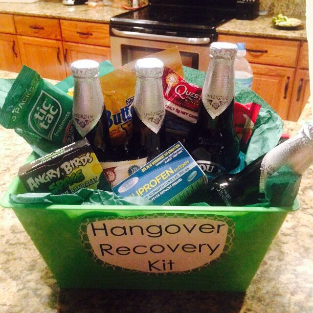 Hangover Recovery Kit For A Guys 21st Birthday My Pins