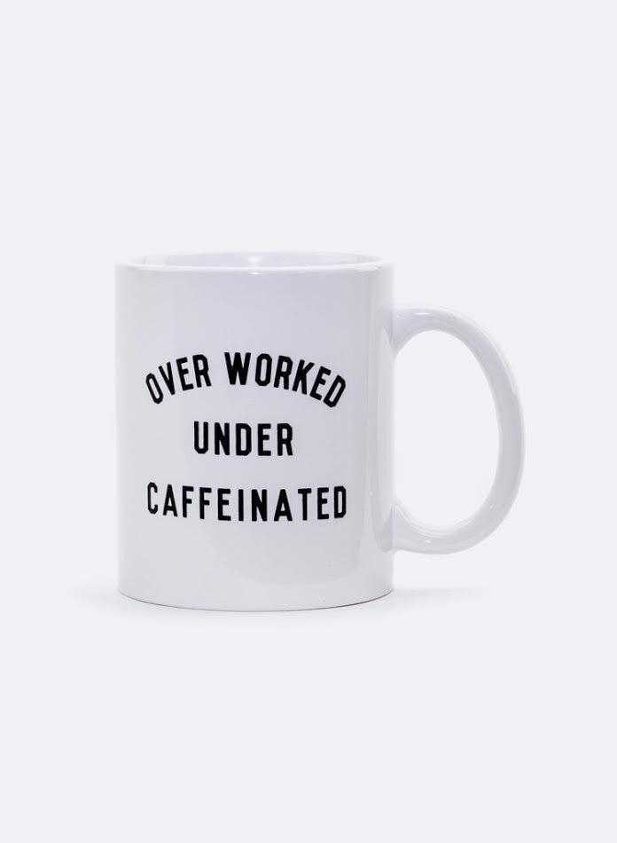 We're feeling with you... This mug will help increase your caffeine intake. Bring it to work wearing our Black Organza Midi Skirt. Ceramic Composite material Tr