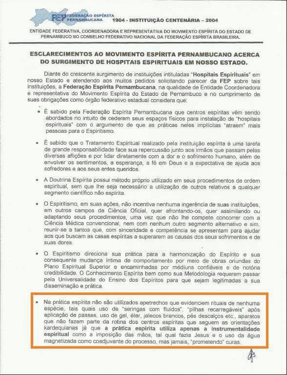 Blog do Centro Espírita de Tuparetama - CEMIL: ESCLARECIMENTOS DA FEP SOBRE HOSPITAIS ESPIRITUAIS...