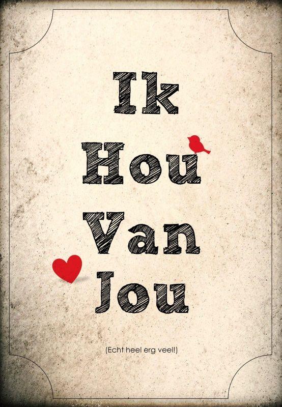 Ik hou van jou!