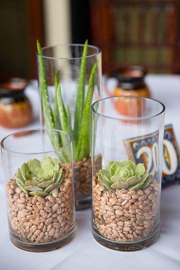 Crazy idea works tabledecor with rajma aloevera cactus