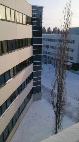 Our office in January 2016. Real winter day -27 celcius.