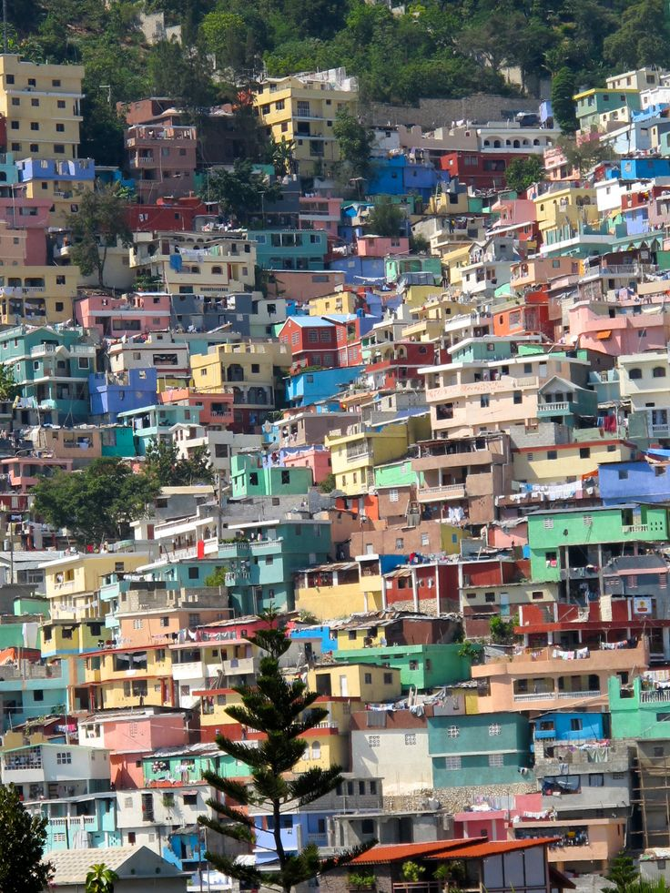 Houses on the hills north of Port Au Prince Haiti