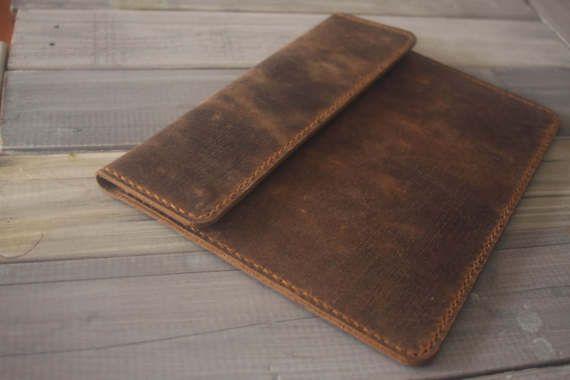 iPad Air Case Leather portfolio Hand Sticthed iPad Sleeve