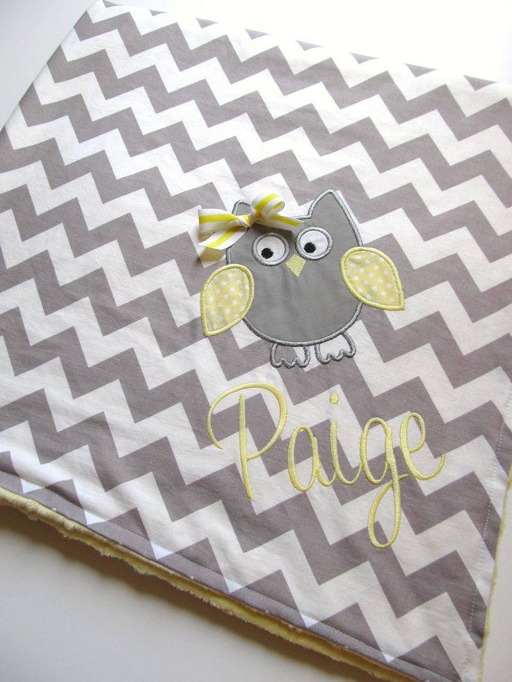 Personalized Baby Blanket 30x35- Minky Baby Blanket- Chevron Minky Blanket- Applique Baby Blanket- Custom Blanket- Design Your Own Blanket