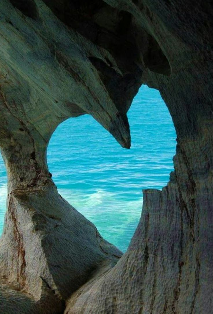 White Cave on Milos Island Greece. Heart in cave