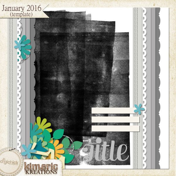 kimeric kreations: Now & Then - new this week! Store sale, a wonderful cluster freebie from Jenni & the January template!