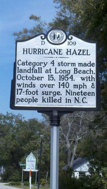 HURRICANE HAZEL  I  this storm quite well.  I was in 3rd grade.  We went to school that day.  A neighbor picked all the neighborhood kids up from school and took them home.  There was not any forecasting of hurricanes back then.  It was quite scary.  Did quite a bit of damage in my hometown of Wilson, NC.
