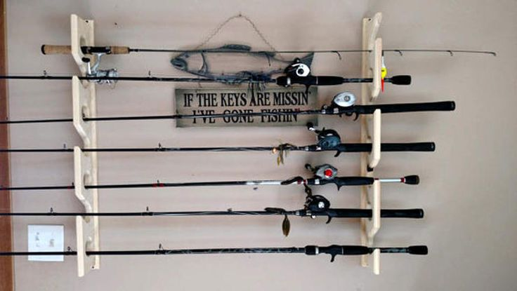 Fishing Rod Rack http://www.rodalesorganiclife.com/home/11-genius-garage-storage-solutions/fishing-rod-rack
