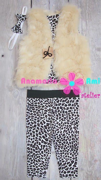 Costumas leopard vestuta bej +colanti+bentita by Anamaria Ami