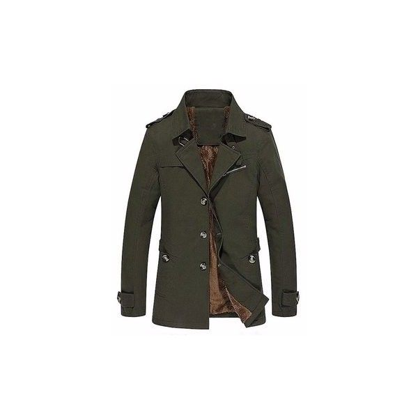 Mens Winter Velvet Plus Thick Warm Military Style Outdoor Jacket Slim... (165 AED) ❤ liked on Polyvore featuring men's fashion, men's clothing, men's outerwear, men's coats, green, mens parka, mens green parka, mens military coat, mens slim fit coat and mens military style coat