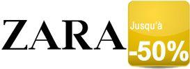 Pour l'hiver la marque espagnole chic et élégante ZARA est soldée jusqu'à -50%