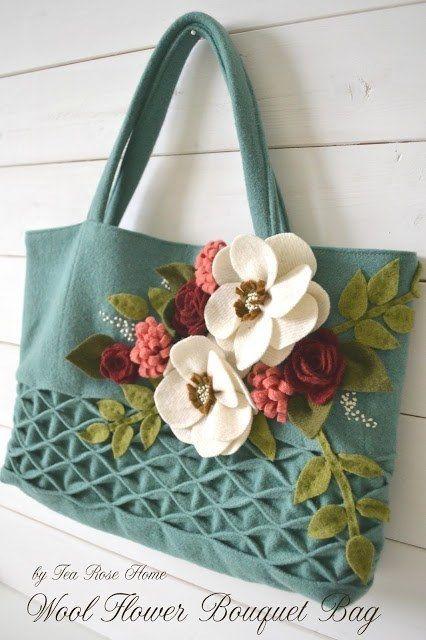 Tutorial para hacer un bolso con apliques de tela.