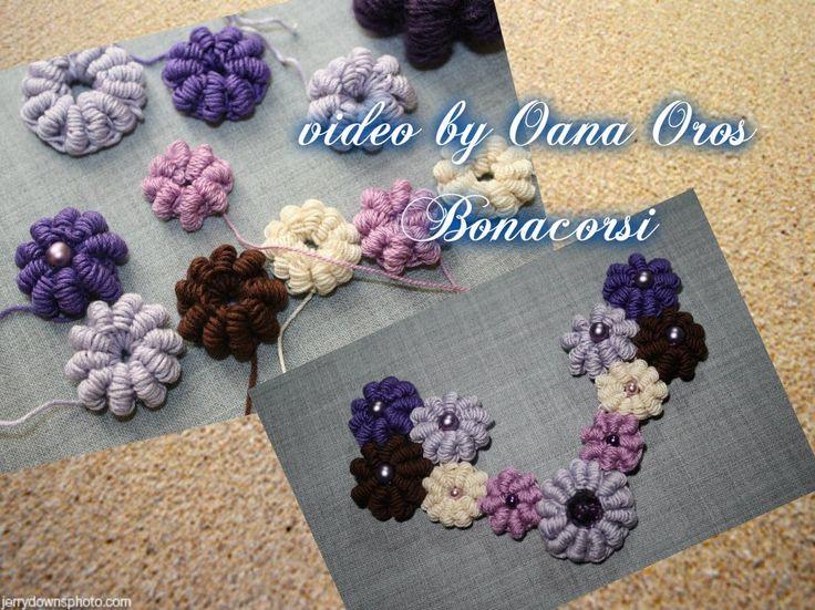 crochet bullion stitch grape bead