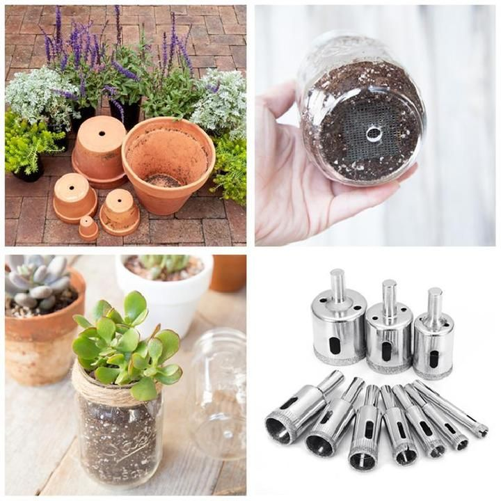 50 Off Ceramic Flower Pot Hole Drilling Bit Set Movdiec Shop In 2020 Ceramic Flower Pots Ceramic Flowers Flower Pots