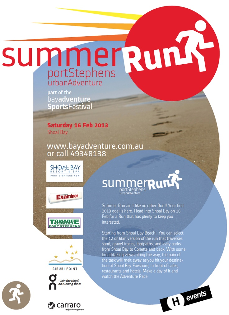 Summer Run Project for H Events, To be held on 16 Feb 2013