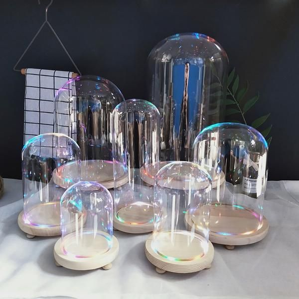 Glass Cloche With Led Base Glass Cloche Glass Dome Display Glass Domes
