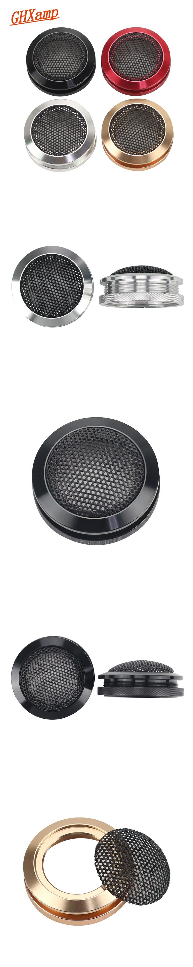 GHXAMP 2PCS 1.5 inch Aluminum Car Tweeter Speaker Grill Mesh Enclosure Protective Cover Shell For Harman Kardon Boss Speaker DIY
