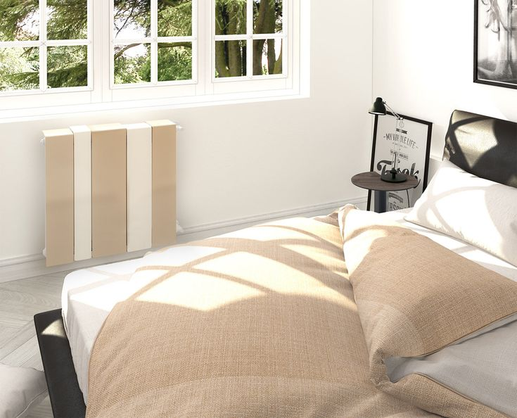 In the bedroom Scirocco H, radiator Mistral - UP_grade  - See more at: http://magazine.designbest.com/en/inspiration/trend/a-radiator-for-every-room/10-radiatori/#image12