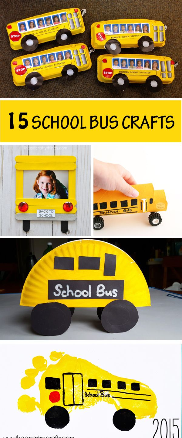 15 School Bus Crafts For Kids Easy Back To School Craft Ideas