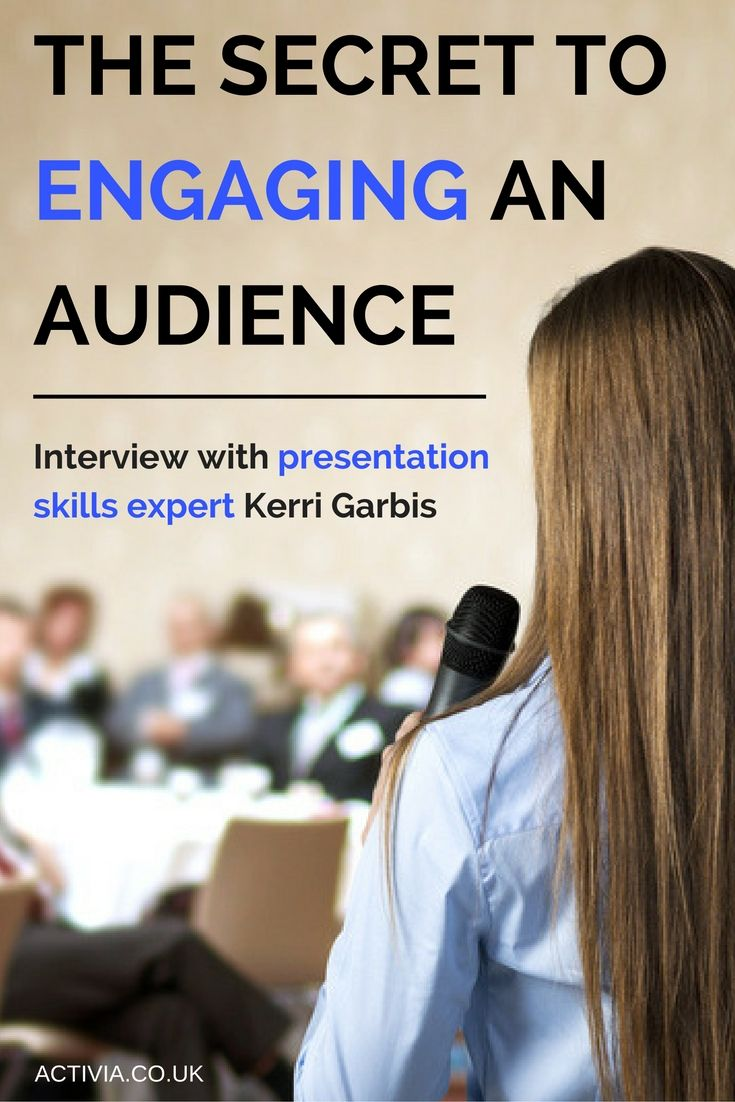How do you engage an audience that doesn't want to listen? How do you feel more relaxed when public speaking? These questions and more answered in Activia Training's interview with Kerri Garbis. Read the full interview here: https://www.activia.co.uk/interviews/kerri-garbis