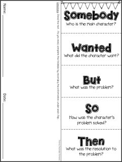 Summary FREEBIE! Somebody Wanted But So Then foldable. Great for an interactive…